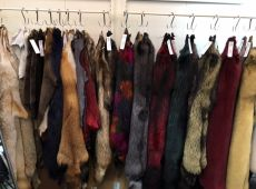 Flash fur accesories and coat in real fur